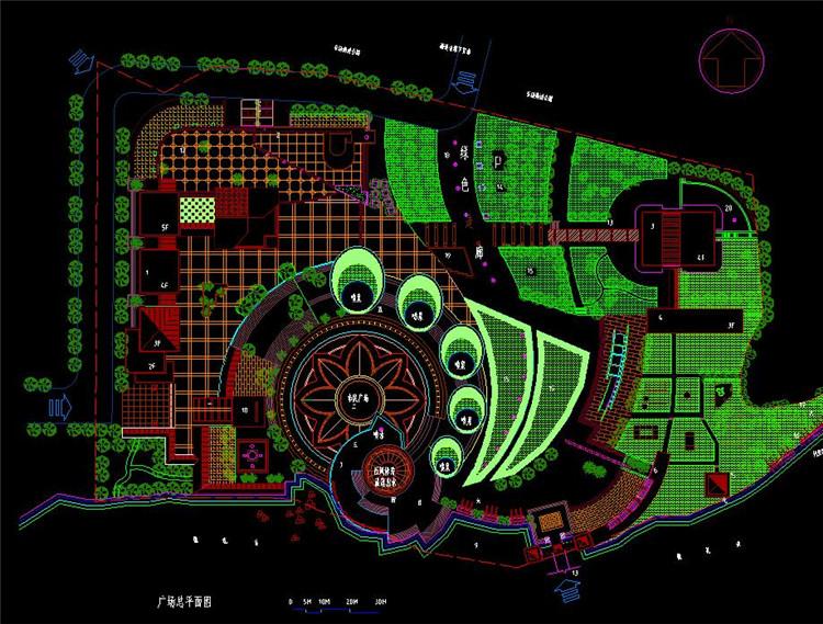 08广场CAD总平面图