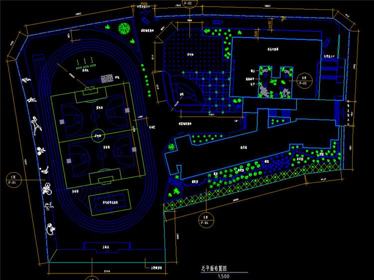 08某小学室外环境设计图