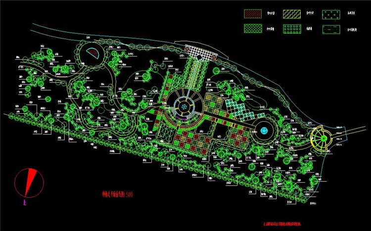 08某河道绿化设计平面图