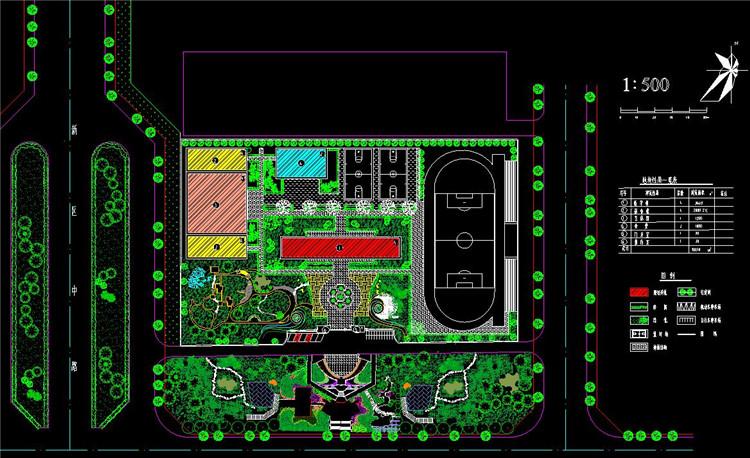 08校园绿化规划图纸