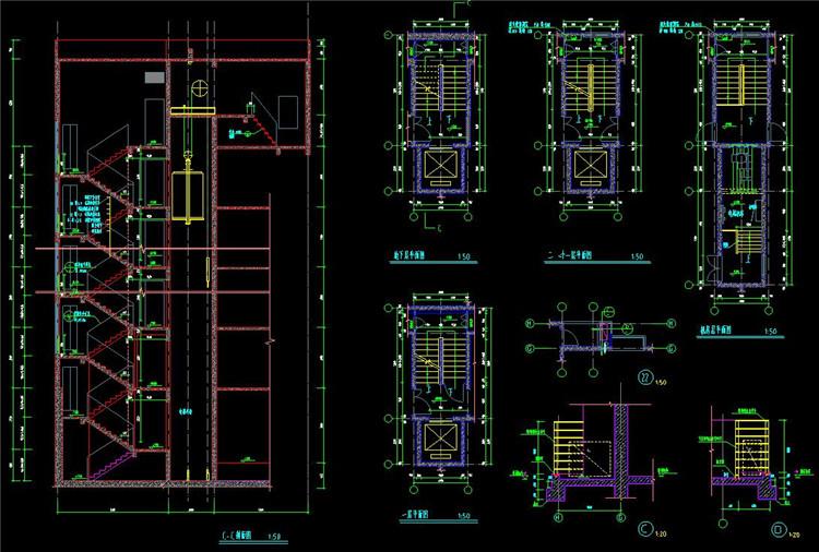 08楼梯CAD详图
