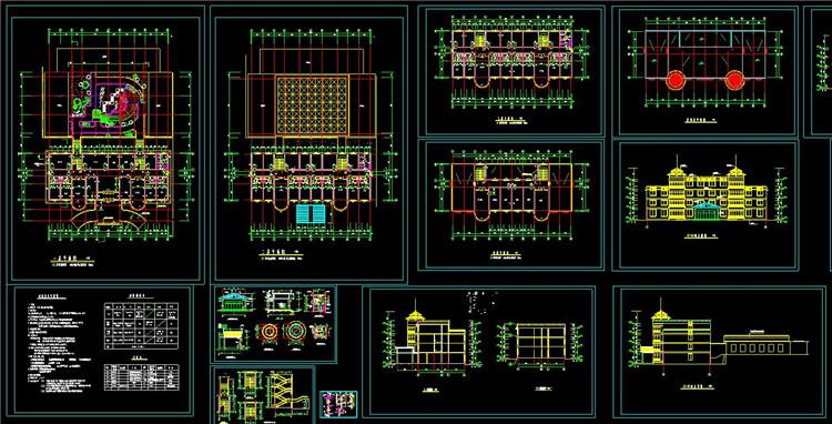 08老年人活动中心建筑设计图
