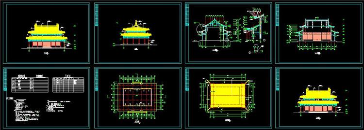 08金殿建筑施工图纸