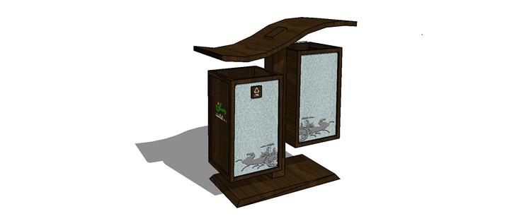 09中式垃圾桶SU模型7