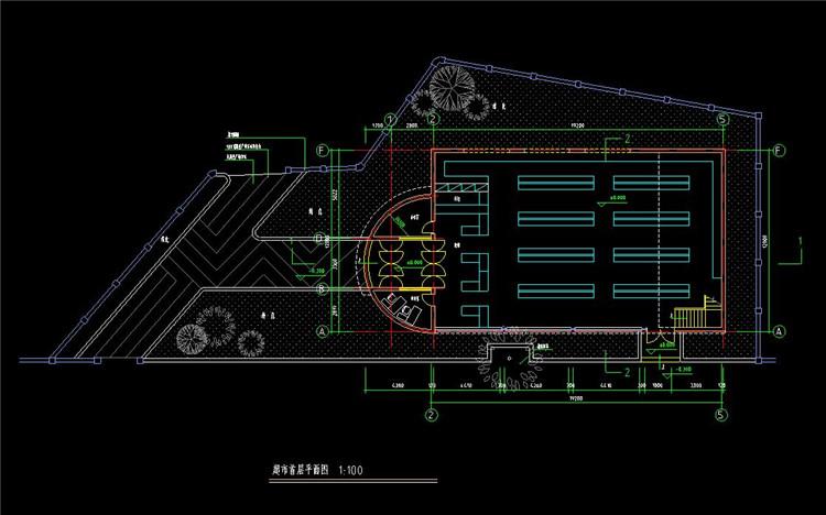 09二层超市建筑设计图
