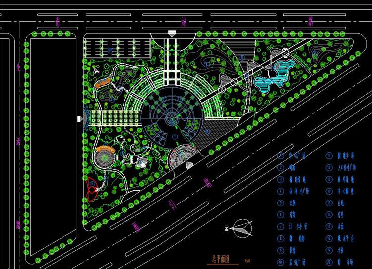 09公园景观绿化全套施工图