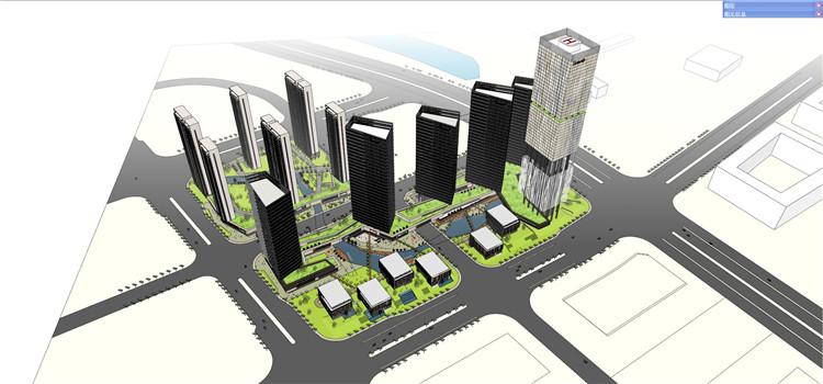 09城市综合体SU模型文件