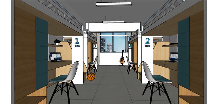 09学校宿舍SU模型