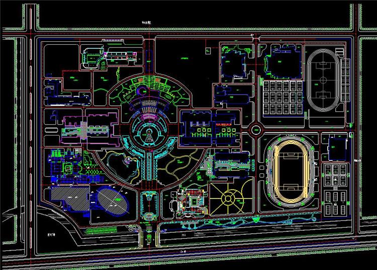 09学校CAD总平面图