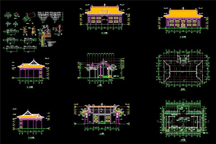 09宝塔寺庙CAD图纸3