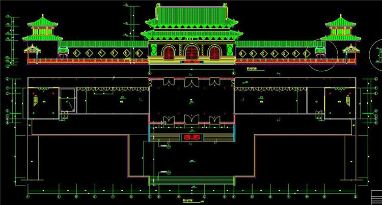 09寺庙的建筑施工图