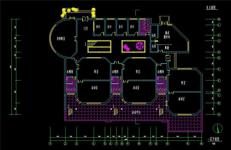 09小型幼儿园建筑图