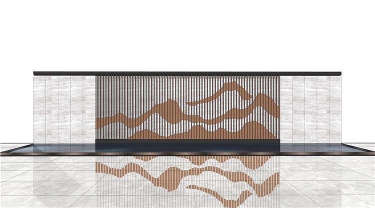 09山水景墙山石片岩SU模型3