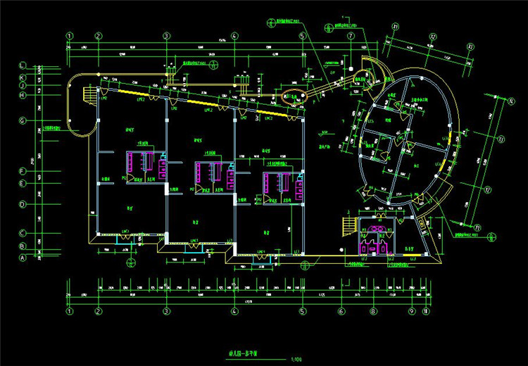 09幼儿园CAD平面图