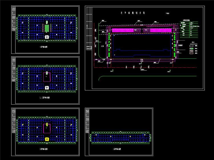 09建材市场设计cad方案图