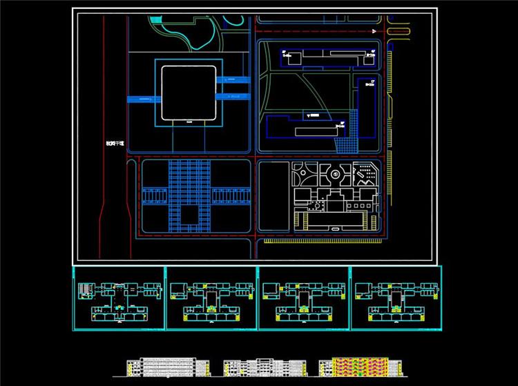 09建筑系馆CAD总平面图