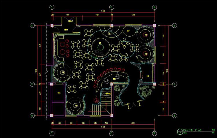 09时尚酒吧CAD施工图