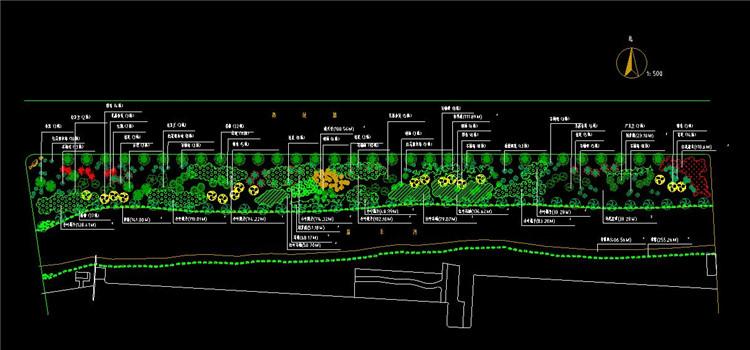 09某河岸绿化施工图