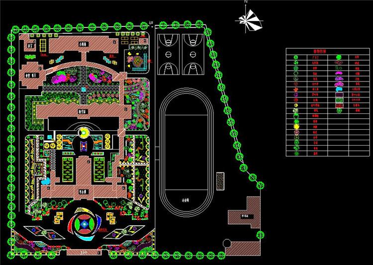 09校园绿化规划设计平面图