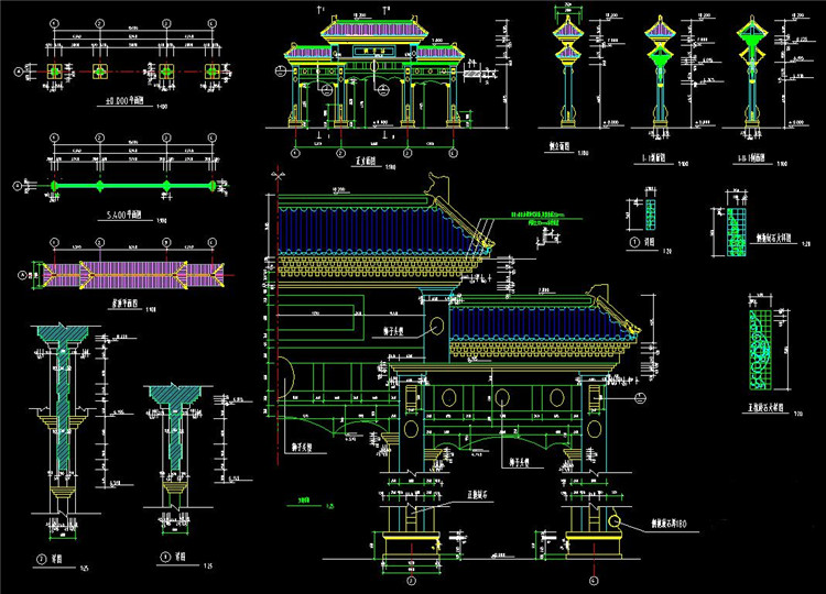 09牌楼建筑施工图