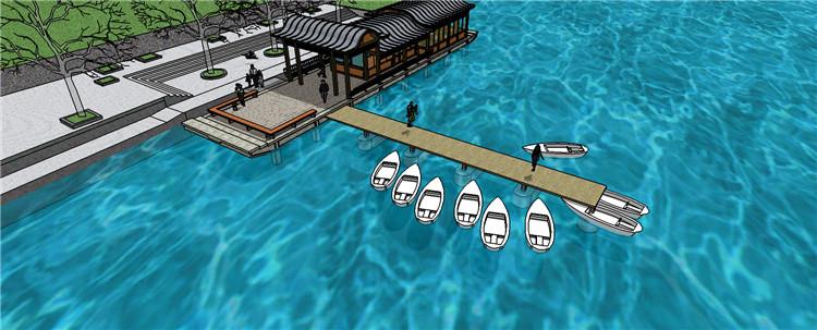 09码头渡口SU模型7