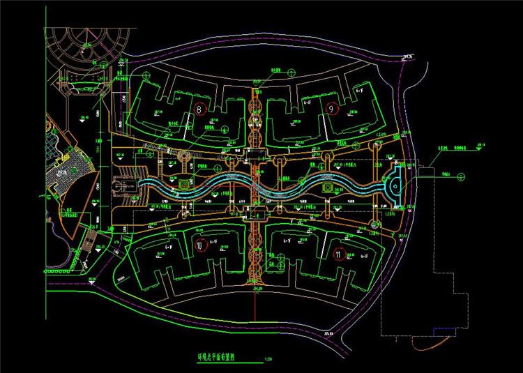 09规划小区总平面图