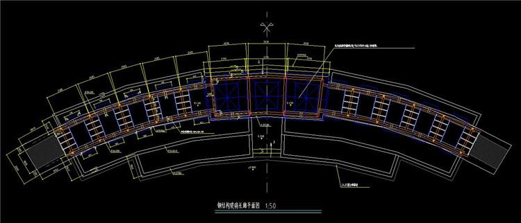 09钢结构玻璃长廊平面图