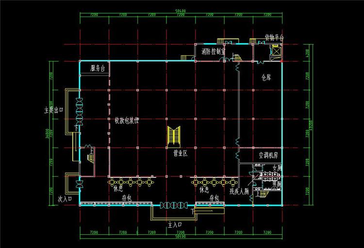 10三层超市建筑设计图