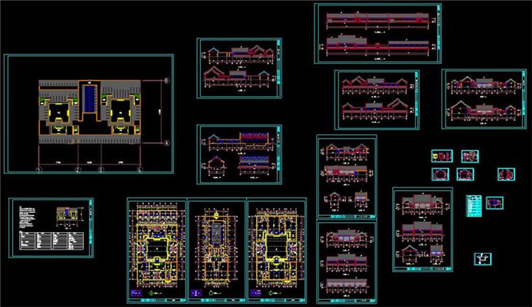 10全套中式四合院CAD施工图纸4