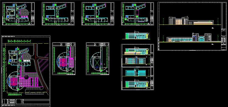 10办公楼CAD图纸1