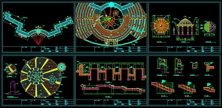 10圆形活动广场施工图