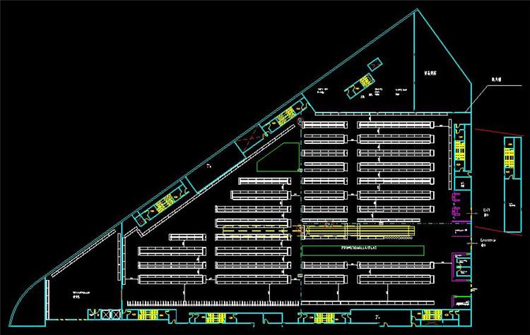 10大型建材市场CAD施工设计方案图纸