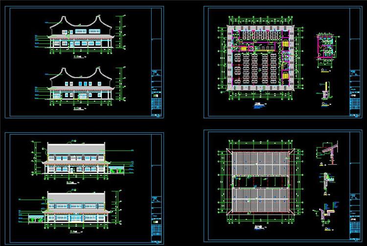 10宝塔寺庙CAD图纸4