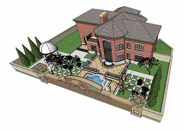 10庭院花园SU模型文件8