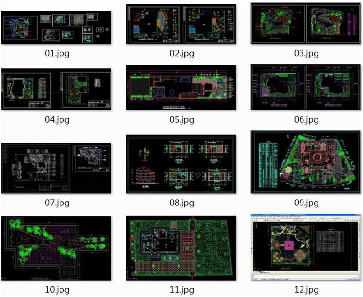 10建筑庭院CAD图纸