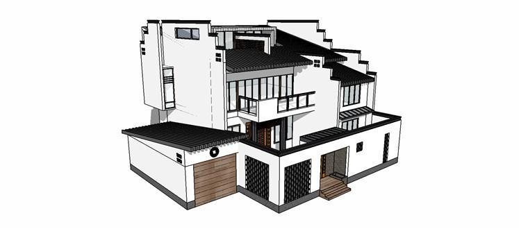10徽派建筑SU模型8