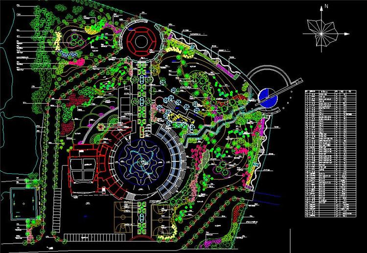 10文化广场绿化工程总平面图