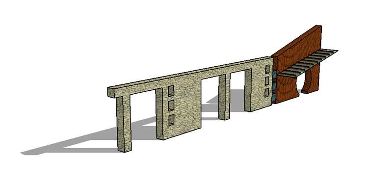 10景墙SU模型8