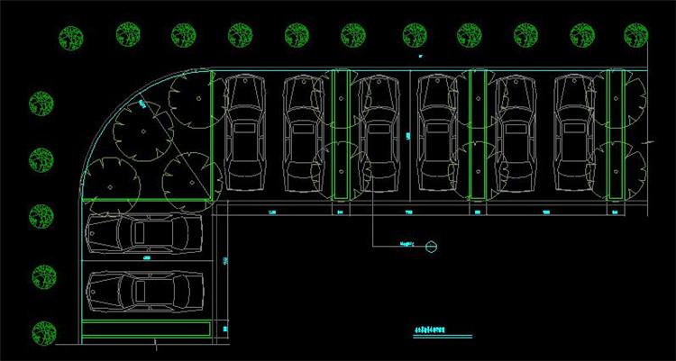 10树池及停车场详图