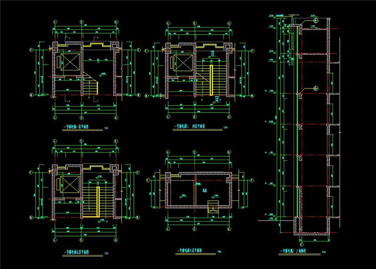 10楼梯井道CAD图纸