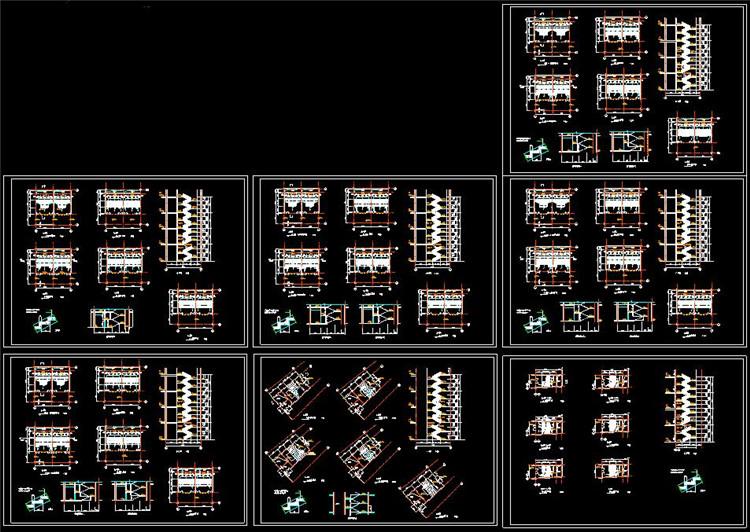 10楼梯各层平面图立面图