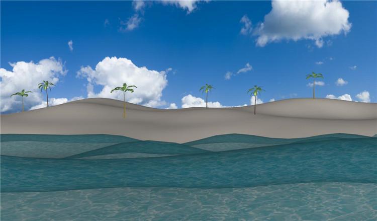 10海滩沙滩SU模型