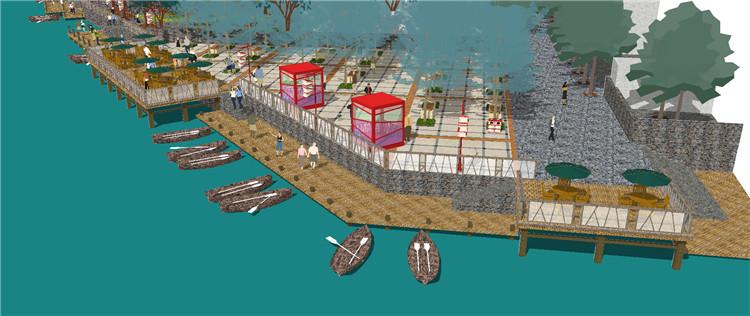 10码头渡口SU模型8