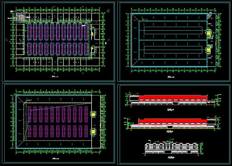 10综合市场建筑施工图