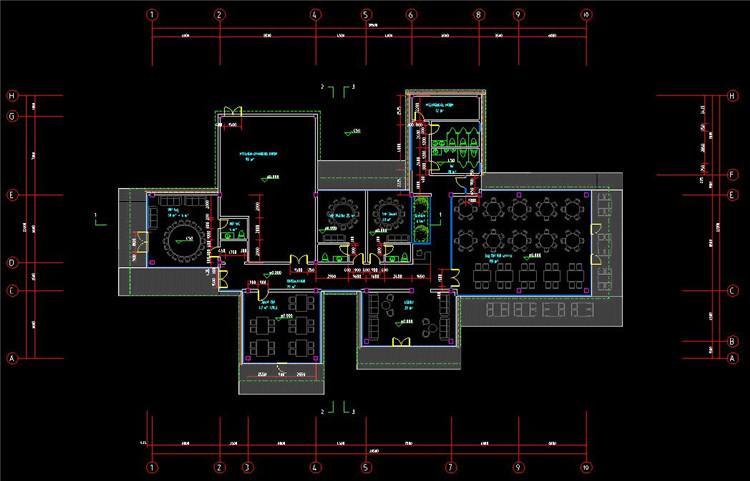 10茶室CAD平面图
