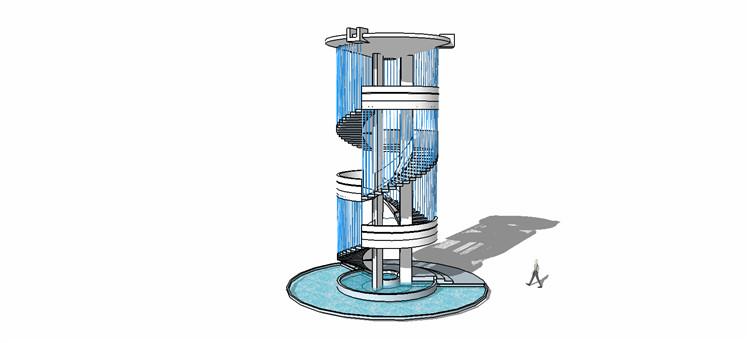 10观景塔SU模型5