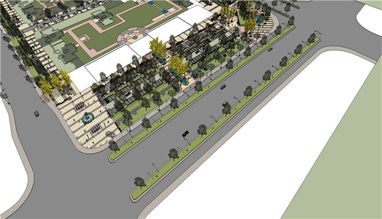10道路景观SU模型8