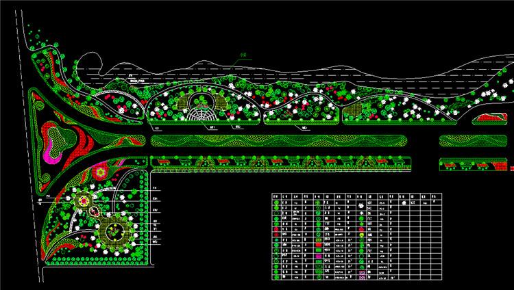 10道路绿化设计图