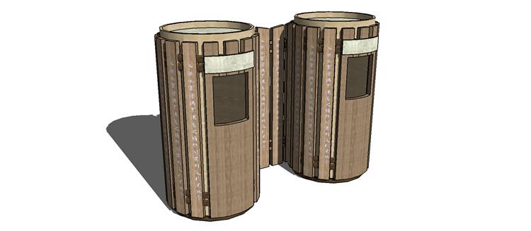 11中式垃圾桶SU模型9