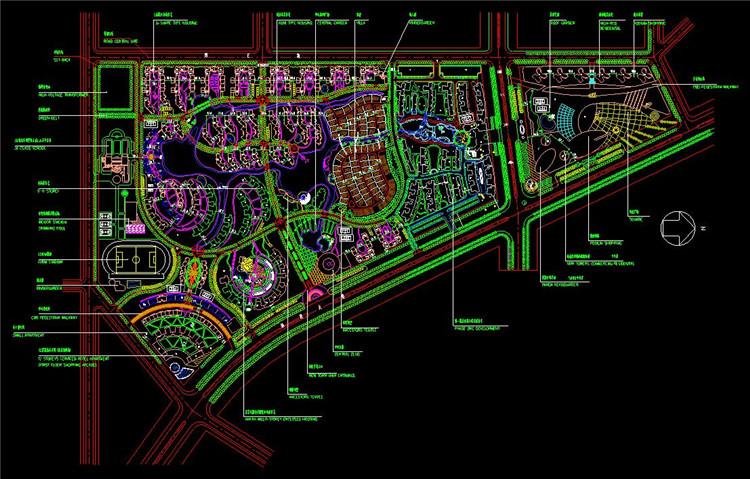 11住宅区规划总图